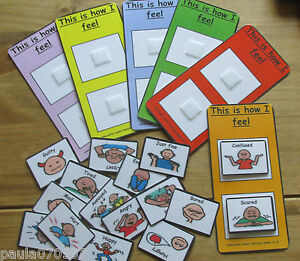 Emotions Feelings Cards With Velcro Amp Boards Pecs