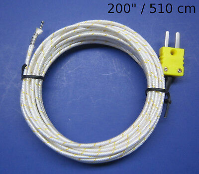 High Temperature K-type Thermocouple Wire Digital Thermometer Sensor 200 Pk1000