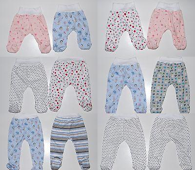 2er Pack Stramplerhose mit Fuß Schlupfhose Baby Hose Gr. 56 62 68 74 80 86  2er-pack Baby-hose