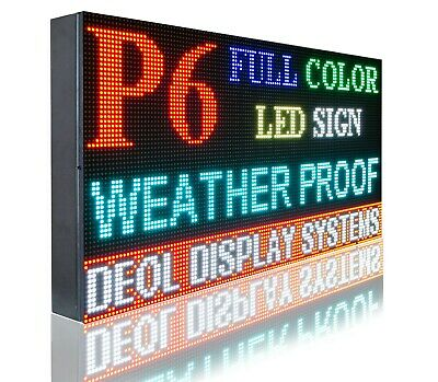 Indoor 6mm Full Color 17 X 61 Pc Programmable Open Led Textvideo Image Sign