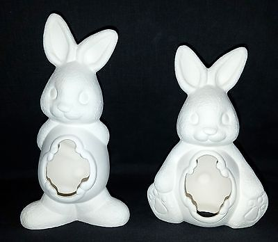 Clay Magic 1018 - Easter Belly Bunnies - Ready to Paint Ceramic Bisque