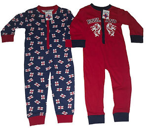 BOYS-PYJAMAS-ONESIE-ALL-IN-ONE-ENGLAND-2-3-4-5-6-7-8-9-10-11-12-YEARS