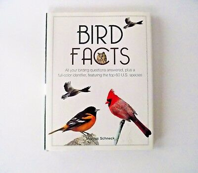Bird Facts (HC/DJ) 1990 1st Edition ~ Marcus Schneck ~ featuring 60 U.S. Species
