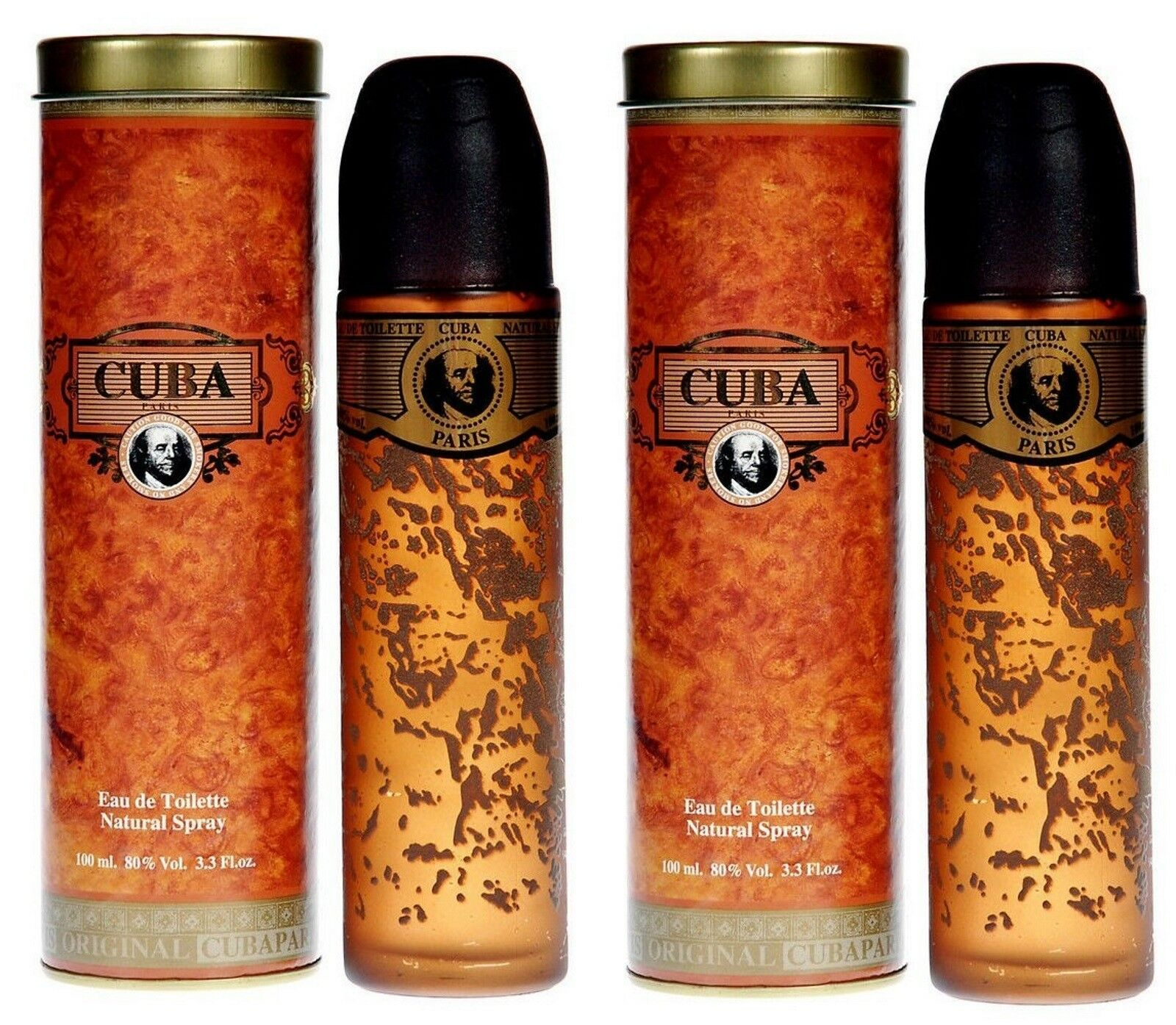 купить 2 Cuba Paris Gold Edt Parfum Herren Set на Ebayde из