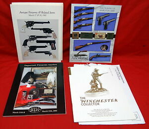 Lot-of-4-Firearms-Catalogues-and-Winchster-Collector-Magazine-of-1995