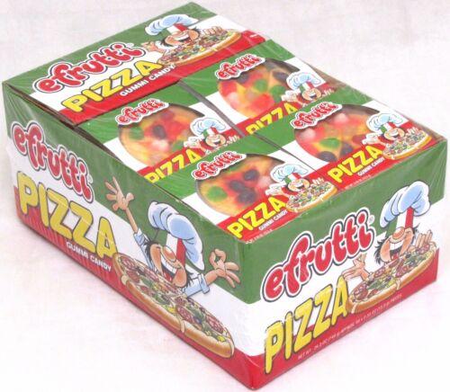 Efrutti Gummi Pizza Candy Fruit Flavored Gummy Novelty Candies Bulk 48 Count Box