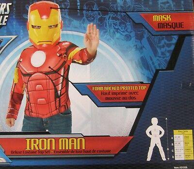 Avengers Iron Man Muskelkostüm Top Maske Marvel Comics Klein 4-6 Neue Box 31529