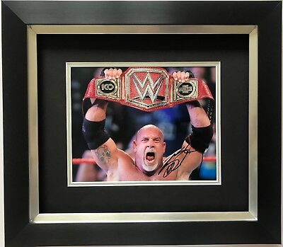BILL GOLDBERG HAND SIGNED FRAMED PHOTO DISPLAY WWE LEGEND 2.