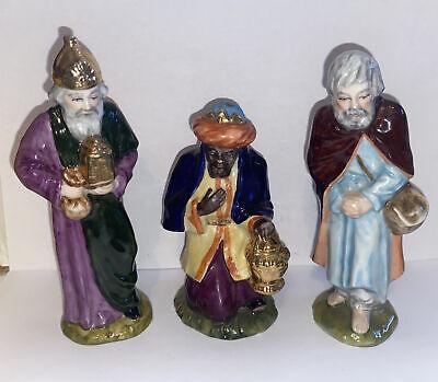 "Wilhelm Rittirsch Dresden Art Porcelain Nativity Figurines ""3 Wise Men"" Rare"