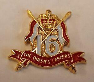 Enamel Lapel Badge 16TH /5TH QUEENS ROYAL LANCERS