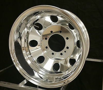 "4) 16X6 NEW GENUINE ALCOA 8 LUG DUALLY WHEEL 160281/2 ""E"" SERIES FORD MOTORHOME"