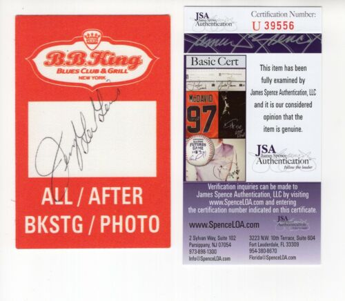 JERRY LEE LEWIS HAND SIGNED 3x4 BACKSTAGE PASS FROM BB KING