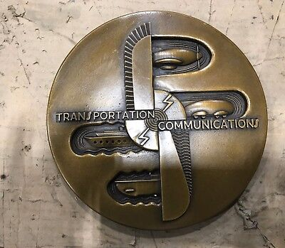 "Art Deco Estate Sale PDF of available rare Bel Geddes 9"" medallion, Zeus & more"