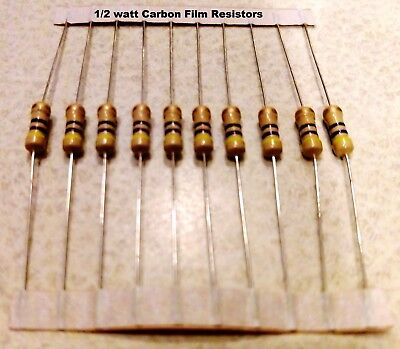 100 Ohm 12watt Carbon Film Resistors 5 You Get 10 Resistors