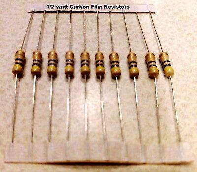 100 Ohm 12watt Carbon Film Resistors 5 You Get 10 Resistors