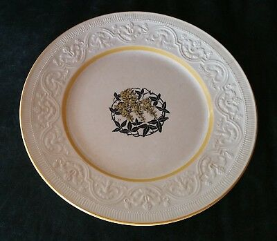 RARE ANTIQUE RORSTRAND SWEDEN YELLOW FLOWERS EMBOSSED PLATE US PAT 62626 1920s