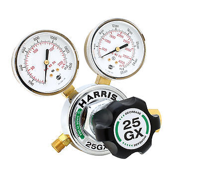 Harris 25gx Single Stage Argon Nitrogen Helium Regulator 25gx-145-580 3000540