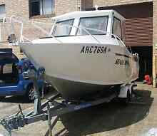 Plate alloy makocraft by stessl 175 hp Johnson fishing boat Gosford Gosford Area Preview