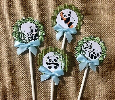 panda Cupcake toppers/panda theme/ panda decorations/ baby panda/ baby shower](Panda Baby Shower Decorations)