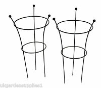 Twin Pack - 40cm Dia Herbaceous Plant Supports - Supporting Peony Plants - tom chambers - ebay.co.uk