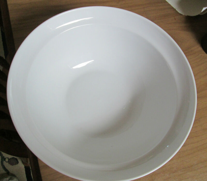 "Bauscher Weiden Catering Serving Bowl 12"" Diameter White EUC ""R"" Germany Dimensi"