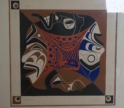 Bella Coola Tlingit Tsimshian Haida Barry Herem Limited Edition Serigraph 1978