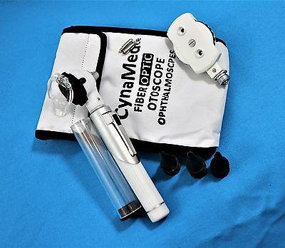 New Fiber Otoscope Ophthalmoscope Examination Led Diagnostic Ent Set -white
