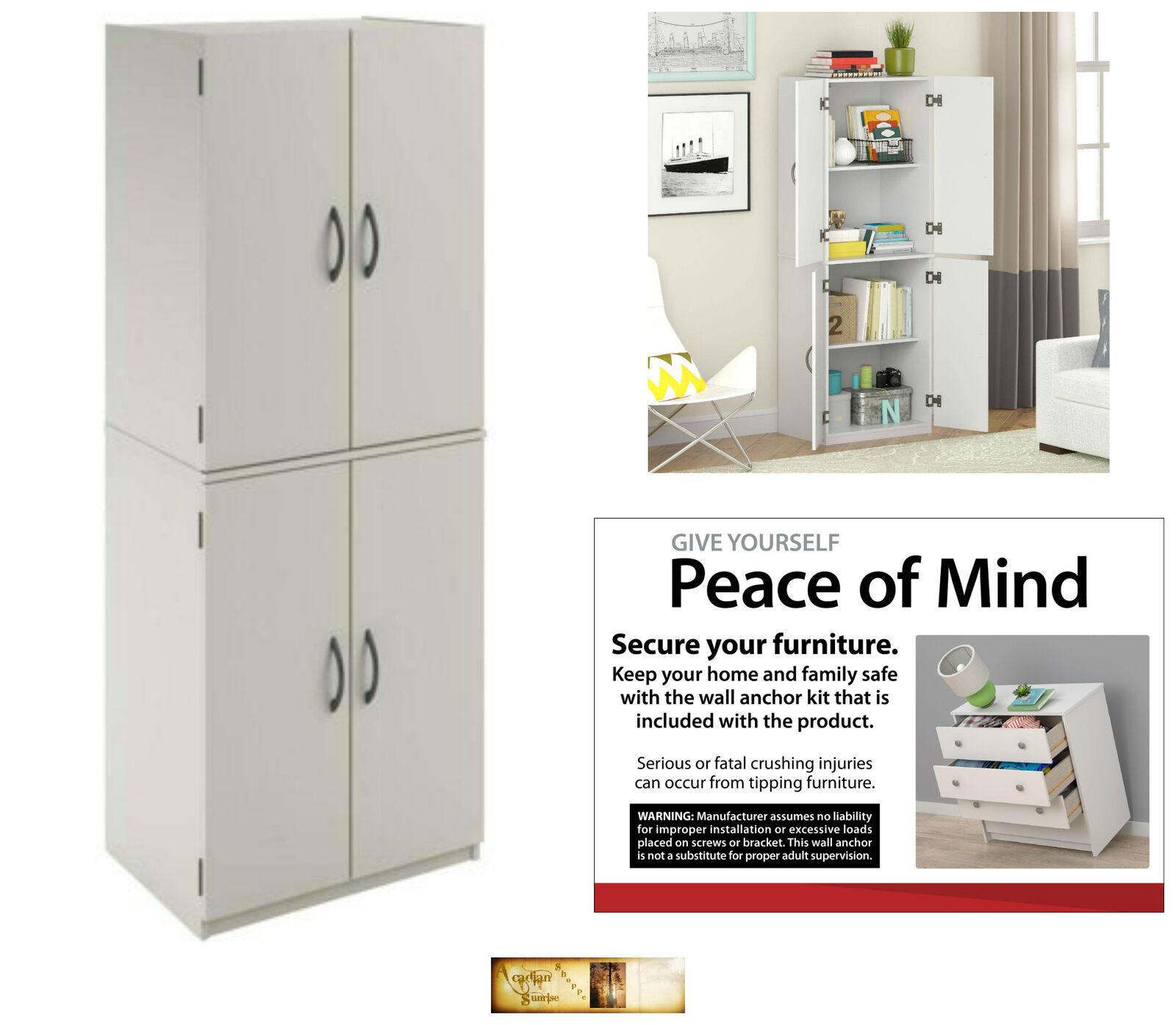 Kitchen Pantry Storage Cabinet Organizer Wood Furniture Mult