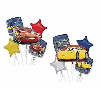 Disney Cars 3 Cruz, Mc Queen Happy Birthday Party Favor 10 Foil Balloons - Cars Birthday Balloons
