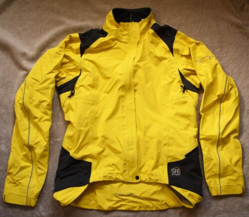 NOVARA Windbreaker Jacket Cycling Womens Medium M Yellow Black