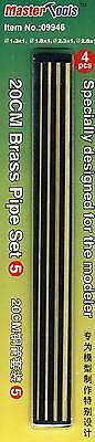 Trumpeter Hobby Brass Pipe Set 5 1,3mm 1,8mm 2,3mm 2,8mm Röhrchen Fahrwerke 20cm