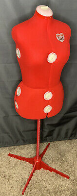 Singer Model 151 Adjustable Dress Form Mannequin Sewing Red