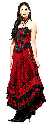 LIP SERVICE VICTORIAN LONG STEAMPUNK GOTHIC GOTH VAMPIRE PRINCESS LAYERED SKIRT Clothing, Shoes & Accessories