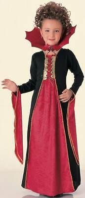 Gothic Vampiress Dracula Vampire Child Costume Halloween Size Medium Girl