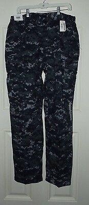 US Navy Working Uniform Digital Blue Camo BDU Pants Large Regular