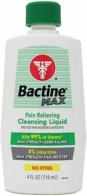 Bactine First Aid Antiseptic / Pain Reliever NO STING! 4oz *** Pain Relieving Antiseptic