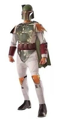 Adult Star Wars Boba Fett Halloween Costume M Medium Fits 38-40 Jacket - Boba Fett Adult Costume