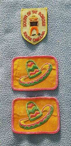 Lot of 3 South Carolina South of the Border SC Souvenir Embroidered Patches NOS