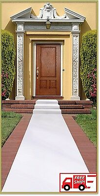 Wedding Carpet Runner White Party Anniversary Marriage Floor Decor Aisle Rug