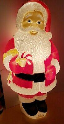 "Vintage Santa Claus Blow Mold Grand Venture 30"" Outdoor Christmas Decor GR Cond."