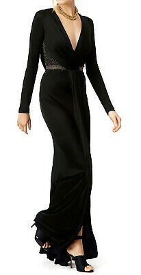 Versace Long Black Halle Gown size 48 Retail $1625