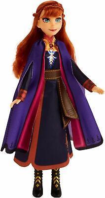 Singing Anna Fashion Doll Purple Dress Lights Up Push Button Disney Frozen 2