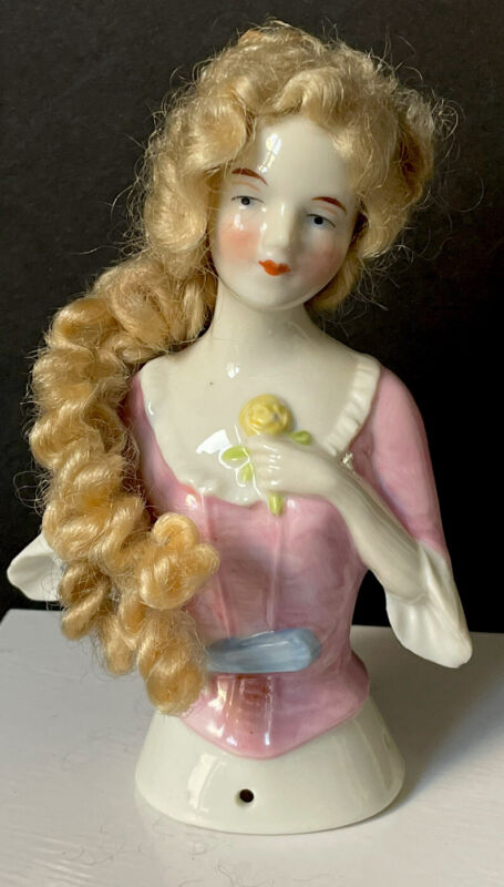 Vintage German Pincushion Half Doll Marked Sp