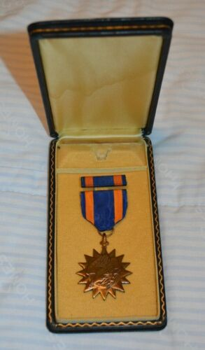 Early Vietnam Air Medal in Coffin Box