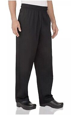 Chef Works Mens Essential Baggy Chef Pants Medium