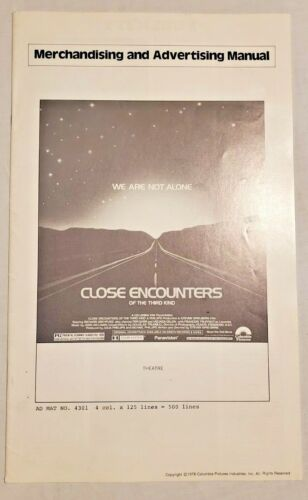 Close Encounters of the Third Kind Pressbook 1977 Richard Dreyfuss