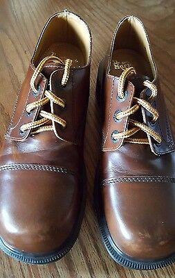 DR MARTENS 3 EYE BOOTS Shoes sz 6 Made England BROWN LEATHER 8309 3 Eye Shoes Boots