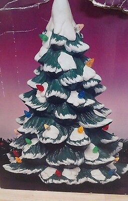 Trim a Tree 14'' Porcelain lighted Christmas Tree   IOB