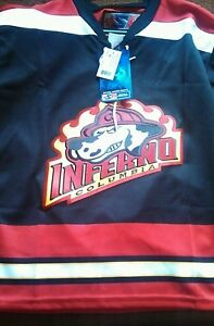 BRAND NEW Columbia Inferno Hockey Jersey  ECHL AHL NHL