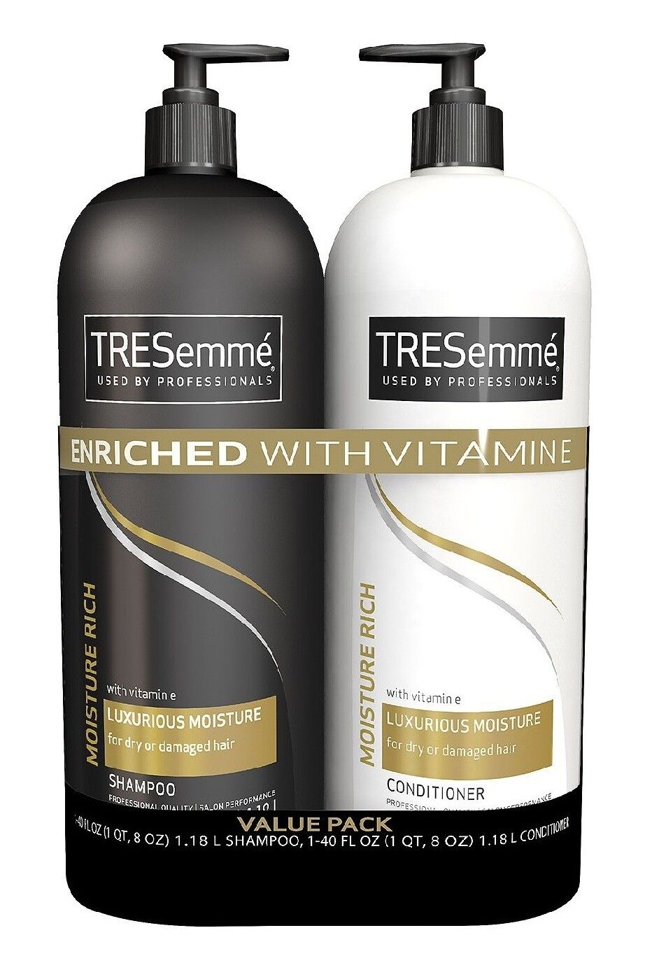 TRESemme Shampoo and Conditioner Value Pack 2pk Moisture Ric